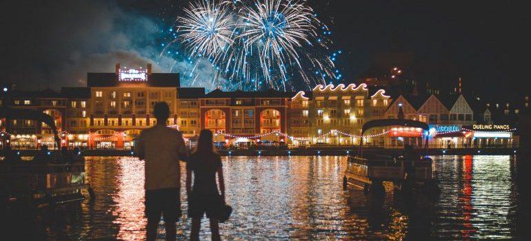 Boardwalk in Disney world