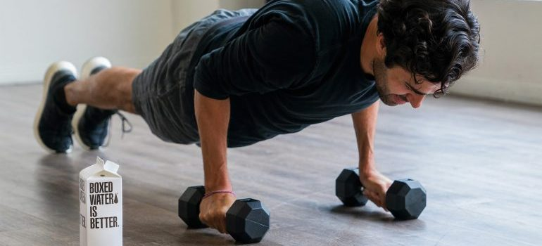 person working out