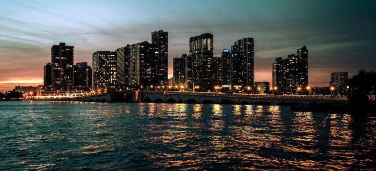 Miami in the night.