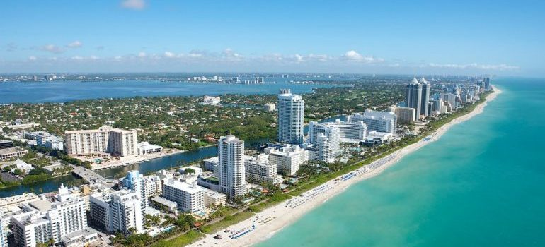 View at Miami from above