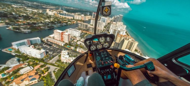 Helicopter above Miami