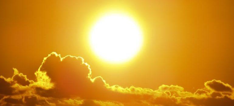 A scorching sun