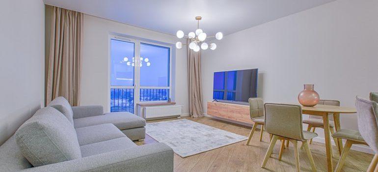 a living room in a condo