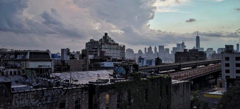A view at Brooklyn from a building