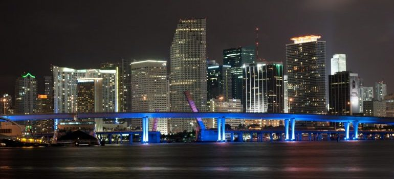 The skyline of Miami