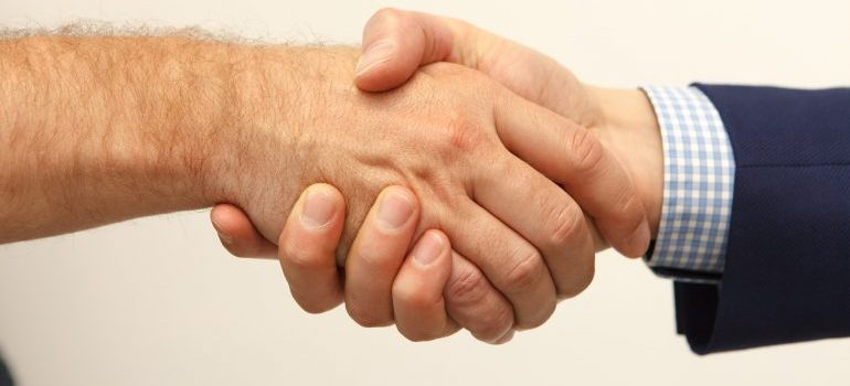 People shaking hands